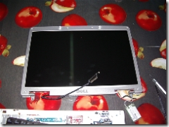 il display assembly smontato