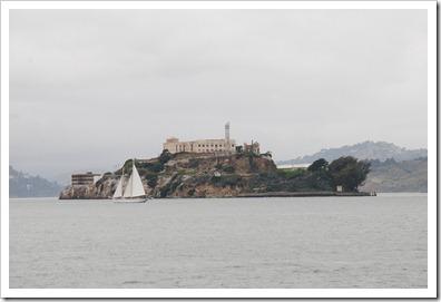Alcatraz vista dall'Embarcadero